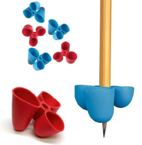 The Pencil Grip Writing CLAW for Pencils and Utensils, Large Size, 6 Count Blue/Red (TPG-21306)