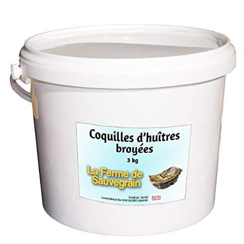 La Ferme Sauvegrain Coquilles d'huitres et de crustacés Marins broyées pour Les Poule - 3 kg