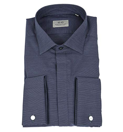 CC COLLECTION CORNELIANI - CORNELIANI Collection Uomo Camicia Gemelli Blu 61 61118/01 U5 EX15 3-22210 - 40
