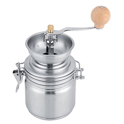 Fdit Edelstahl Kaffeemühle Manuelle Handkurbel Gewürz Nuts Kräutermühle (Sliver)