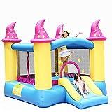 Aufblasbares Haus für Kinder Aufblasbarer Freizeitpark für Kinder Kleine Rutsche für den Innenbereich Trampolin für Haushaltskinder Aufblasbarer Spielplatz ( Color : Color , Size : 279*239*213cm )