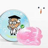 YOURPAI Bola de rebote, juguetes de limo transparente que nunca se seca sin bórax pegamento de plastilina para niños rosa