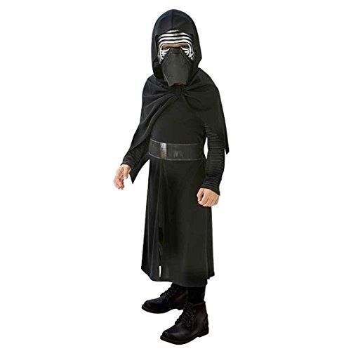 Kylo Ren Kostüm Kinder Star Wars Kinderkostüm M 128 cm Dunkler Jedi Faschingskostüm Sith Verkleidung Jediritter Starwars Robe mit Maske Karnevalskostüm Jungen - 2