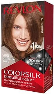 Revlon Colorsilk Hair Color 51 Light Brown, Pack of 5