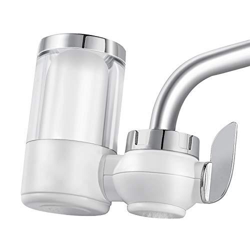 Vokmon Filtración para Grifo Filtro Grifo Filtro Agua Filtro de Agua para Grifo,Osmosis inversa sedimentos, oxido, nitratos, pesticidos y Elimina Mal Sabor y Olor.