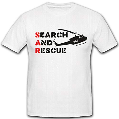 SAR Suche Und Rettung Bundeswehr Einheit Luftwaffe Helicopter Search Rescue - T Shirt #2164, Größe:XL, Farbe:Weiß