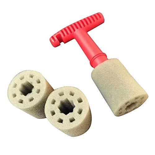 Cepillo para detalles de coche,Cepillo de limpieza de tornillo Cepillo de rueda de coche Cepillo de limpieza de rueda de tuerca de orejeta con mango Inserto extraíble Anillo de acero