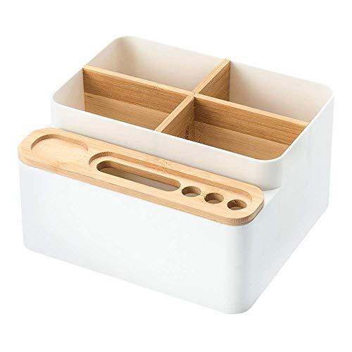 WK Multi-Funktions-Stifthalter Fernbedienung Storage Box mit Tissue Box Kreative Wohnzimmer Couchtisch Haushaltspapierservietten mping Box Desktop Debris Lagerung Büro lili