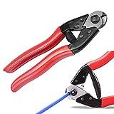 LYTIVAGEN Pince Coupe-câbles Multifonction Coupe-Fil de Vélo 7 mm en Acier Coupe-fil à Cliquet Pince Coupante de Câble Robuste avec Poignée Rouge Outil de Réparation pour Vélo