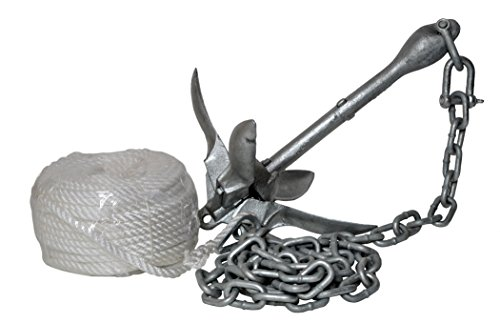 H2o Galvanised 1.5 KG Folding Anchor (Including Shackle, Rope & Chain) by H2o Kayaks