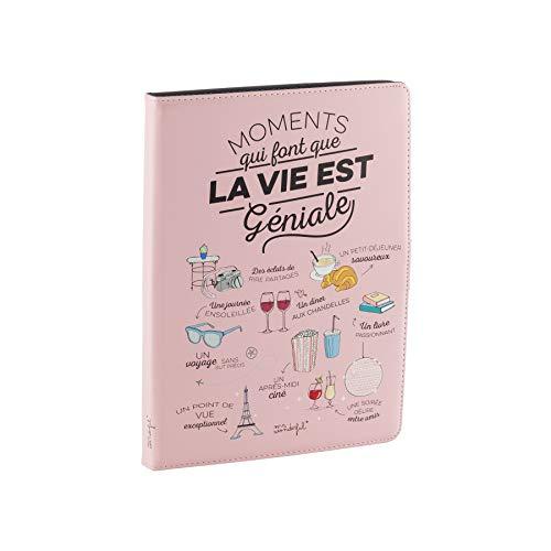 Mr Wonderful Funda Tablet Universal de 9,7' a 10,1' Pulgadas - Tipo Libro con Diseño Moments, Rosa