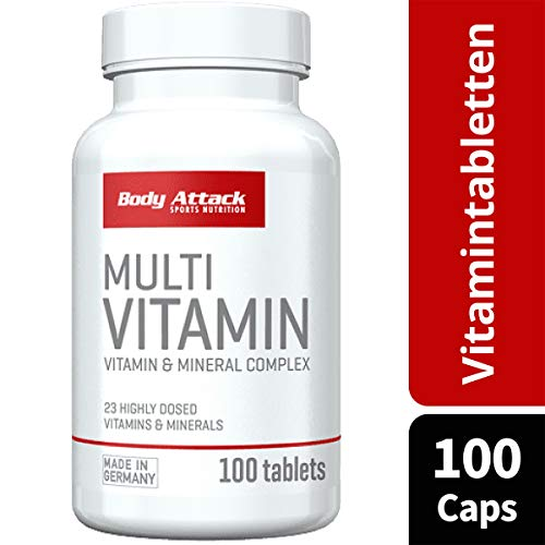 Body Attack Multi Vitamin, 100 Tabletten - 3