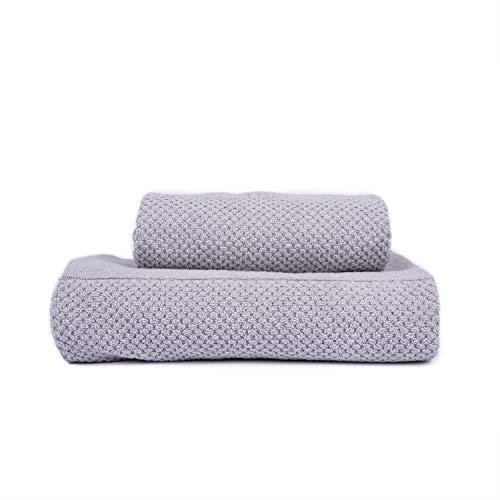 Sahara Maison - Bath towel and towel set made of 100% Turkish luxury towel set absorbency 580 GSM towel set Rhoda grey
