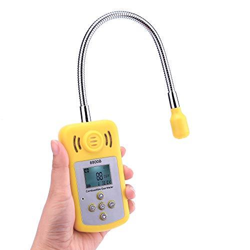 No-Branded Analizador portátil de Gas de Escape del Gas Ubicación Determinar Tester Detector de Gas Combustible con Alarma Pantalla LCD de Sonido-luz