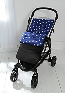 Forro polar saco/Cosy Toes Compatible con paseo G-Luxe de UPPAbaby vista Cruz Azul Star/negro exterior