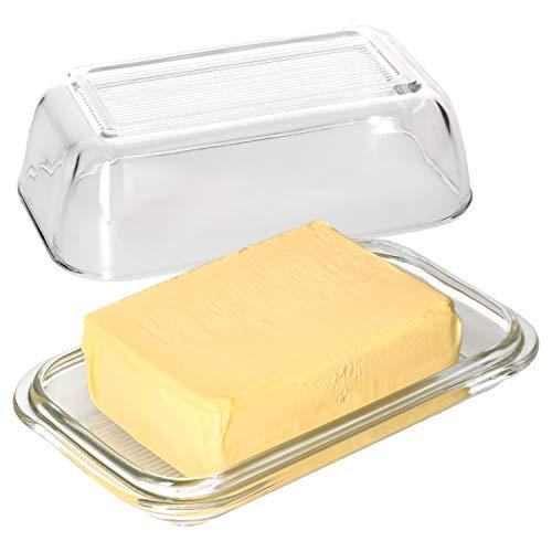 MamboCat botervloot met deksel I helder glas I transparant I bewaren van boter & kaas