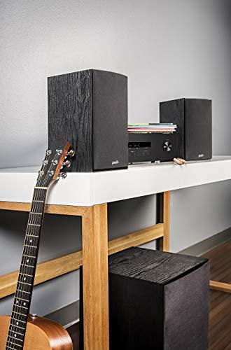Polk Audio T15 - Altavoce con Woofer bi-laminado de fibra 5.25', color negro
