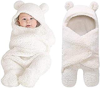 XMWEALTHY - Manta de felpa para recién nacido, para bebé, niña, niña, manta de bebé, Lindo, talla única