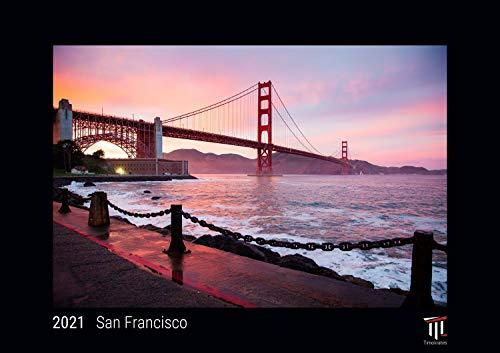 San Francisco 2021 - Black Edition - Timokrates Kalender, Wandkalender, Bildkalender - DIN A4 (ca. 30 x 21 cm)