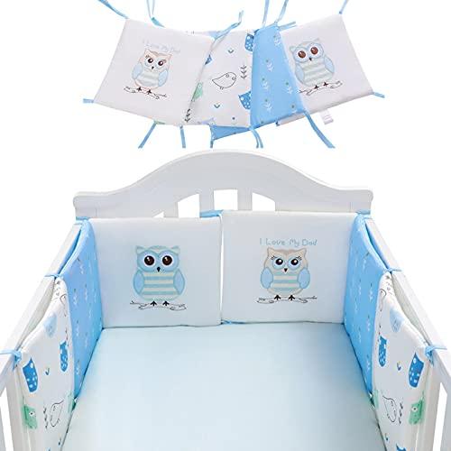 Sroomcla Baby Cuna Parachoques Patrón De Búho Cubierta De Riel De Cuna De Bebé Cojín Interior Cuna De Envoltura Segura Protector De La Protección De La Cama Liner AntiParachoques