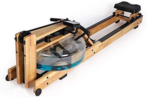 ZHBD Massivholz-Doppelspur Wasser-Rudergerät, Intelligentes Ruder in Innenräumen Mit LCD-Monitor, Aerobic-Übungsfitness Für Den Heimgebrauch