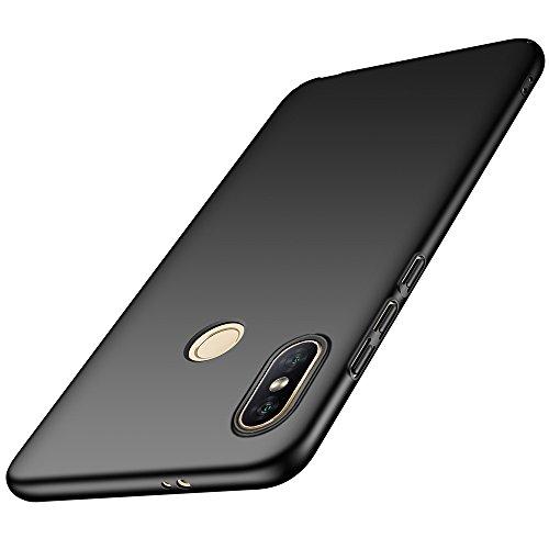 LAGUI Funda Adecuado para Xiaomi Mi Mix 2s, Carcasa Dura de Ultrafino, Caja del Teléfono de Ligera y Simple de Un Único Color, Anti-Arañazos Anti-huella Cubierta Protectora, negro