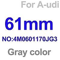 ホイール センター キャップ 4ピースA1 A2 A3 A4 A5 A6 A7 A8 Q1 Q3 Q5 60mm 61mm 135mm 146mmホイールセンターハブキャップカーリムエンブレムバッジカバー ホイールハブキャップ (Color : 69mm black)