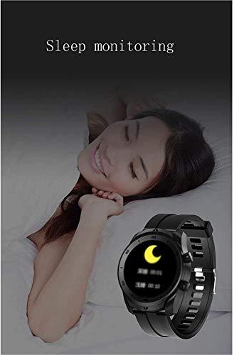 Smart Watch Fitness Tracker con monitor de frecuencia cardíaca Ip67 impermeable rastreador de actividad podómetro, monitor de sueño, llamada de mensaje, podómetro, reloj casual, color marrón
