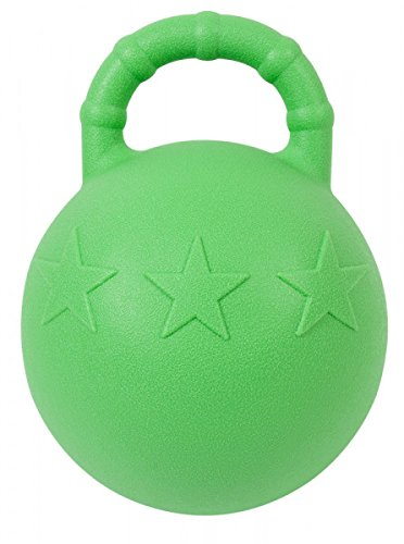 PFIFF 102446 Pferdespielball -Fruitstar- (mit Minz- Oder Apfelaroma) ca. 25cm hellgr�n mit Apfelaroma