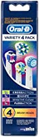 Oral-B Variety Pack Replacement Electric Toothbrush Head Refills, 4 pack