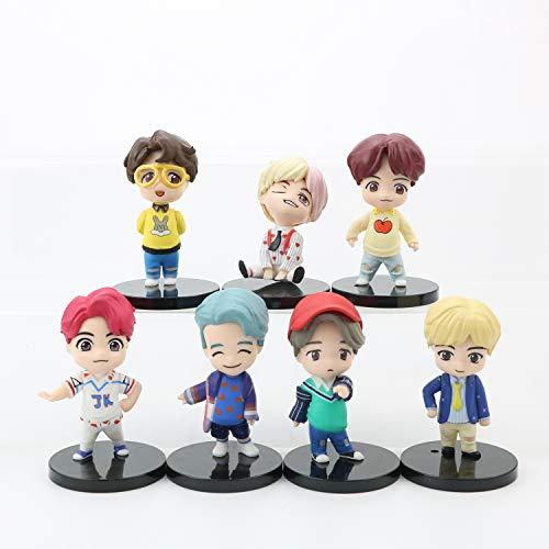 7pc the BTS、Bangtan Boys doll figurines Cake Topper BTS、Bangtan Boys Cupcake Toppers cake decoration for girl