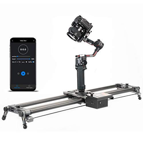 YC Onion Generation 3.0 Camera Slider 80cm/31'' Motorized App Control in Aluminum Alloy with Super Silent Motor, 3-4 or 5 Axis Video Slider Dolly Track Motion Rail for Time Lapse Video