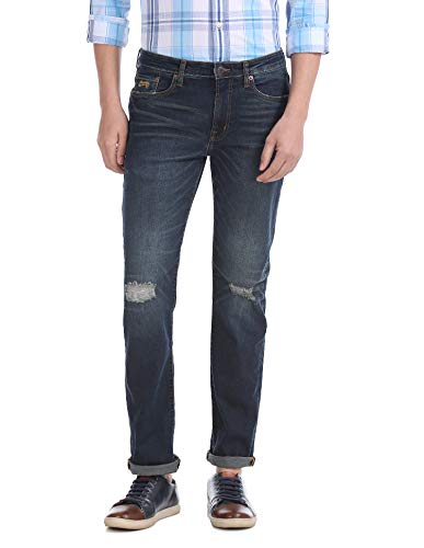AEROPOSTALE Men's Slim Fit Jeans (AE1003852962_Blue_38W x 34L)
