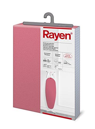 Rayen 6275.04 Funda de Planchar Universal | Alcolchada fácil de Colocar con Sistema EasyClip | 3 Capas: Doble Capa de Espuma y Tejido 100% algodón | Gama Basic Plus, Fucsia, 130 x 47 cm