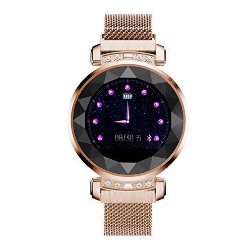 Multifunktionale Smart Watch IP67 wasserdichte Sport-Armband Unterstützt Weibliche Physiologische Zeitraum Erinnerung Herzfrequenzmesser,Gold