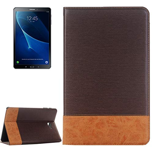 WeYiMa Phone Case For Galaxy Tab A 10.1 / T580 Cross Texture Horizontal Flip Leather Phone Cover With Holder & Card Slots & Wallet (Color : Coffee)
