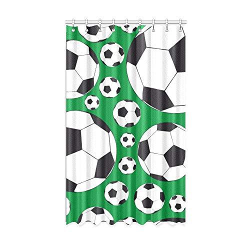 N\A Verdunkelungsvorhänge Badezimmer Fußball Fußballspiel Ball Innenfenster Vorhang 50 x 84 Zoll Einteiler für Patio Glasschiebetür/Schlafzimmer