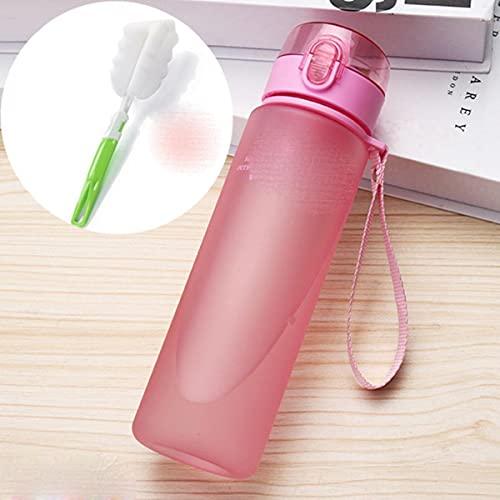 Taza de ocio al aire libre para pareja, taza de agua de plástico de gran capacidad para hombres, mujeres, niños, botella portátil para estudiantes para botellas de agua de 560 ml