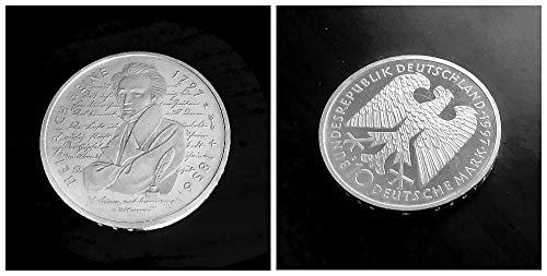 Deutschland (1997) 10 DM Silbermünze - 200. Geburtstag von Heinrich Heine, 625er Silber, Prägezeichen D