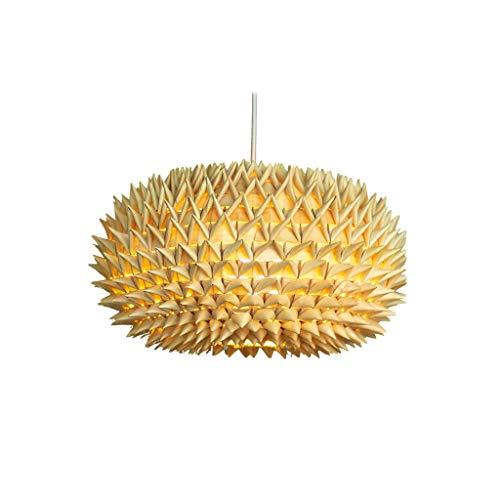 JJH Lámpara Colgante en Forma de Durian única, lámpara de Hojas de Palma Tejida a Mano, luz de Colgante de Estilo tailandés para Home Cafe Bar Hotel, Bombilla E27 (tamaño : Small 28 x 20 cm)