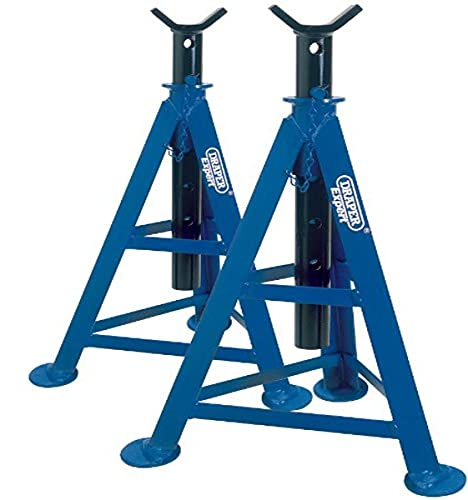 Draper 54722 Expert Axle Stand, 6 Ton Capacity, 870mm Height, Blue, Pack of 2