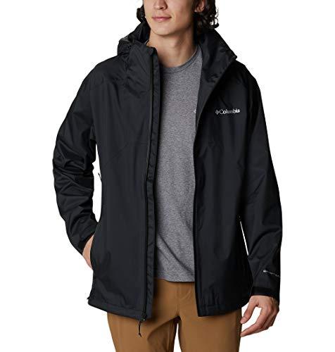 Columbia Men's Rain Scape Waterproof Jacket, Black, L