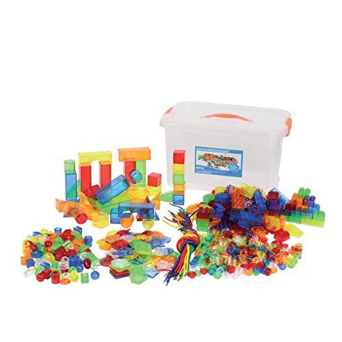 TickiT 73099Set mit Farbelementen für die Früherziehung, 634-teilig, Rot, Orange, Gelb, Grün, Blau, Lila und Durchsichtig