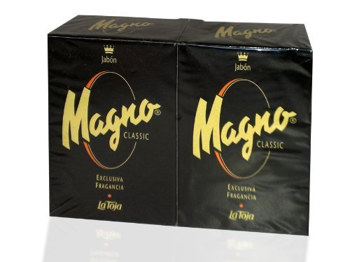Magno Jabon por La Toja Magno clásico negro glicerina Set de jabón