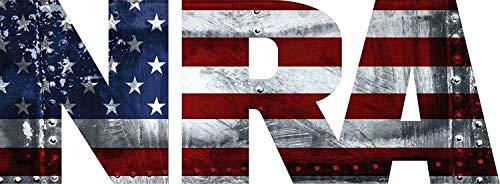 "NRA Lifetime Patch Flag National Rifle Association Gun Vinyl Decal Sticker 8"" х 3"""