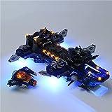 WWEI Iluminación LED personalizada para 76153, compatible con LEGO Avengers Helicarrier, sin set Lego