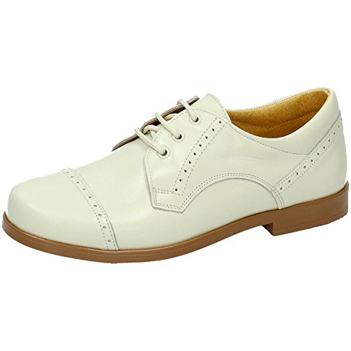 YOWAS 6304 Zapato DE Piel NIÑO Zapato COMUNIÓN BEIG 38