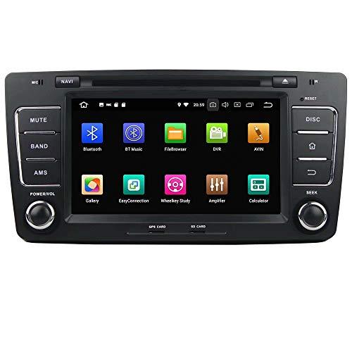 ROADYAKO pour Skoda Octavia 2010 2011 2012 2012 2013 Android 8.0 Navigation GPS Automatique Radio stéréo 3G WiFi Lien Miroir RDS FM AM Bluetooth Multimédia Audio Vidéo