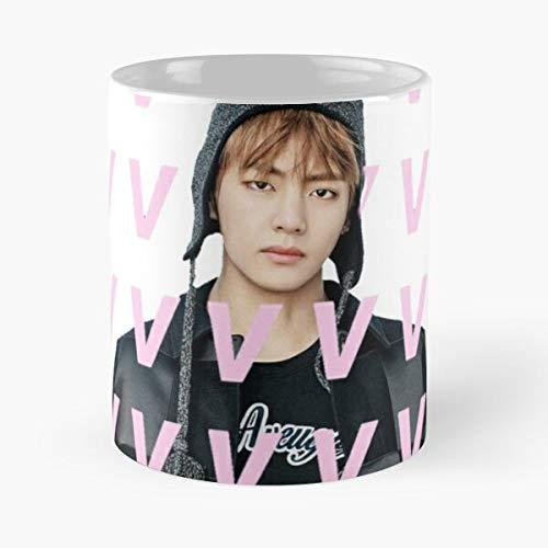 Kpop BTS V Boys Bangtan Taehyung Best Taza de café de cerámica de 325 ml, con texto...