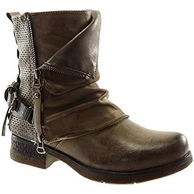 Boots low heel 3.5 cm bi material